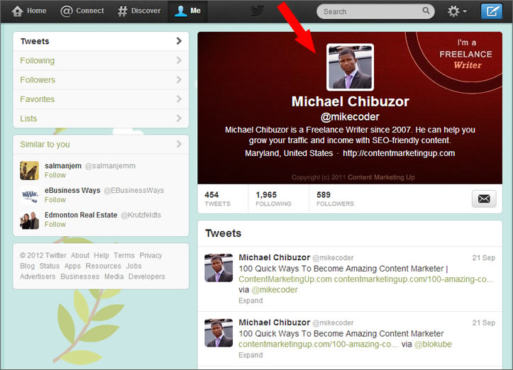 twitter profile banner