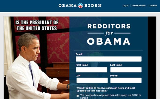obama landing page