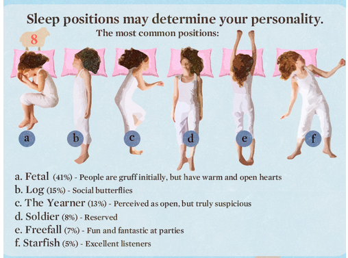 sleep positions affect personality
